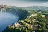 Summer Rim Shot, Southern Oregon, Crater Lake National Park Photographic Print by Vincent James