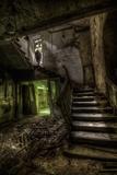 Haunted Interior Stariway Fotografie-Druck von Nathan Wright
