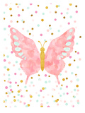 Butterfly Poster van  Peach & Gold