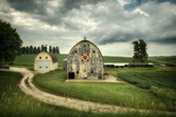 Farmland with Barns in USA Wall Mural