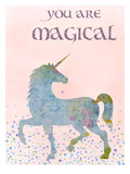 You Are Magical Plakat af  Peach & Gold
