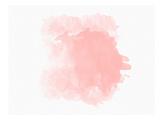 【北欧】抽象画(ピンク) 高品質プリント :  Peach & Gold