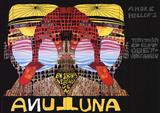 Luna Luna Silketrykk av Friedensreich Hundertwasser