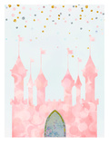 Pink Castle Print van  Peach & Gold