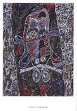 Automobile a la route noire Posters av Jean Dubuffet