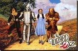 The Wizard of Oz - Yellow Brick Road Stretched Canvas Print