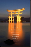 Tao River (Shrine, Lao Tsu Quote) Art Poster Print Stretched Canvas Print