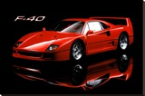 Ferrari F40 Stretched Canvas Print
