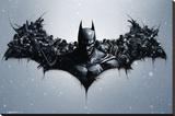 Batman Origins - Arkham Bats Stretched Canvas Print