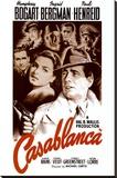 Casablanca, collage van zestal filmbeelden, 1942 Kunst op gespannen canvas