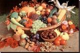 Autumn Fruit (Still Life) Art Poster Print Reproducción de lámina sobre lienzo