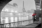 Paris - Eiffel Tower Kiss Stretched Canvas Print