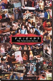 Friends- Collage Stretched Canvas Print