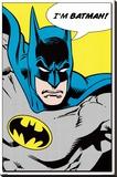 Batman (I'm Batman) Stretched Canvas Print