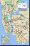 Nova York - metrô Impressão em tela esticada