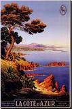 La Cote d'Azur キャンバスプリント : M. タングリー