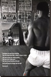Muhammad Ali- Gym Stretched Canvas Print