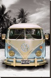 Californian Camper Stretched Canvas Print