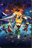 Star Fox 64- Charging Characters Stretched Canvas Print