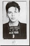 Frank Sinatra Mugshot Stretched Canvas Print