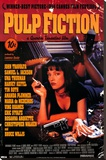 Pulp Fiction – Cover with Uma Thurman Movie Poster Stretched Canvas Print