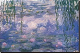Nympheas Stretched Canvas Print by Claude Monet