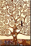 The Tree of Life, Stoclet Frieze, c.1909 (detail) Stretched Canvas Print by Gustav Klimt