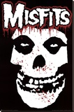 Misfits (Skull, Splatter) Music Poster Print Stretched Canvas Print