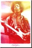 Jimi Hendrix Legendary Music Poster Print Impressão em tela esticada