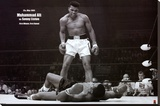Muhammad Ali vs. Sonny Liston Stretched Canvas Print