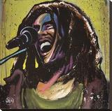 Bob Marley Jams Trykk på strukket lerret av David Garibaldi