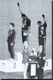 Black Power, Mexico City Olympics 1968 Stretched Canvas Print