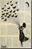 Jover- Butterflying Stretched Canvas Print by Loui Jover