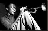 Miles Davis- Sitting With Trumpet Toile tendue sur châssis