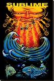 Sublime- Sun & Fish Stretched Canvas Print
