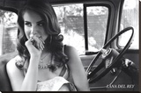 Lana Del Rey Music Poster Stretched Canvas Print