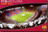 FCB- Barcelona Camp Nou Stretched Canvas Print
