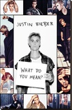 Justin Bieber- What Do You Mean Collage Stretched Canvas Print