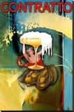 Abstract Contratto Impressão em tela esticada por Robert Downs