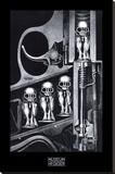 Birth Machine Stretched Canvas Print by H. R. Giger
