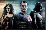 Batman vs. Superman- City Stretched Canvas Print
