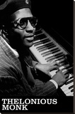 Thelonious Monk- London Collection Vol 2 Stretched Canvas Print