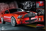 EASTON - Red Mustang Reproducción de lámina sobre lienzo