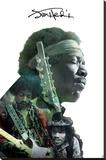 Jimi Hendrix- Double Exposure Trykk på strukket lerret