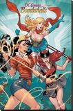 DC Comics Bombshells- Stunning Trio Stampa su tela