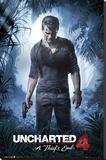 Uncharted 4- A Thiefs End Kunst op gespannen canvas