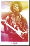 Jimi Hendrix - Legendär Bedruckte aufgespannte Leinwand