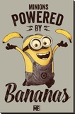Despicable Me - Powered by Bananas Stretched Canvas Print