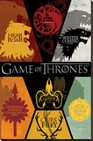 Game of Thrones - Sigils Stretched Canvas Print