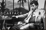 Scarface Al Pacino Sling Stretched Canvas Print